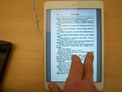 Google Books PDF Test: Retina iPad Mini
