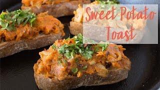 Vegan Sweet Potato & Caramelized Onion Toast