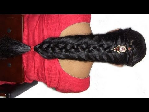 How To Do Indian/Pakistani Bridal Braid Hairstyle : For Long To Medium Black Hair