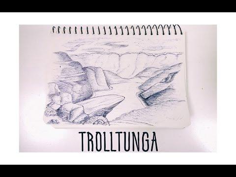 видео: Рисунок ручкой - Язык Троля