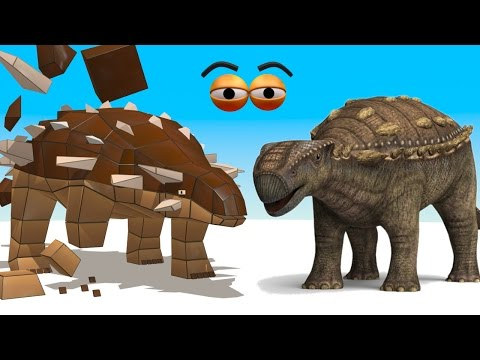 CUBE BUILDER for KIDS (HD) - Build an Ankylosaurus Dinosaur for Children - AApV