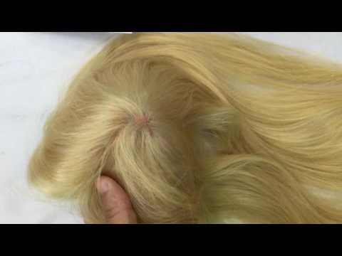blonde toupee hair pieces for European Hair market