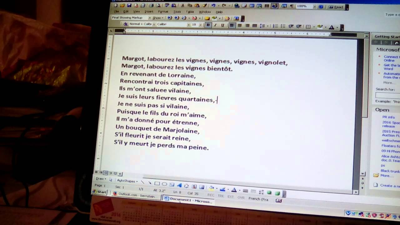 Arcadelt Margot Labourez les vignes pronunciation - YouTube