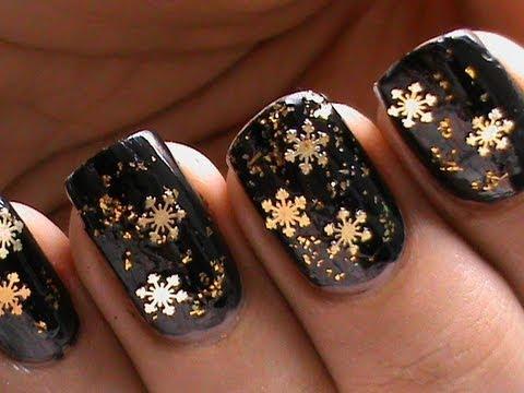 Snowflake nail art designs how to do youtube snowflake nail art designs how to do prinsesfo Images