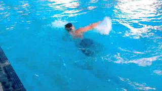mujeeb swimming