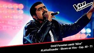 "Omid Forootan cantó ""Alive"" - La Voz Ecuador - Shows en Vivo - Cap. 40 - T1"