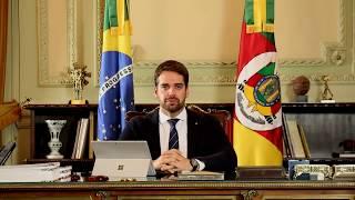 Governador Eduardo Leite fez pronunciamento sobre o enfrentamento ao Coronavírus e reforçou o apelo aos gaúchos para que observem as determinações impostas pelo Governo do RS