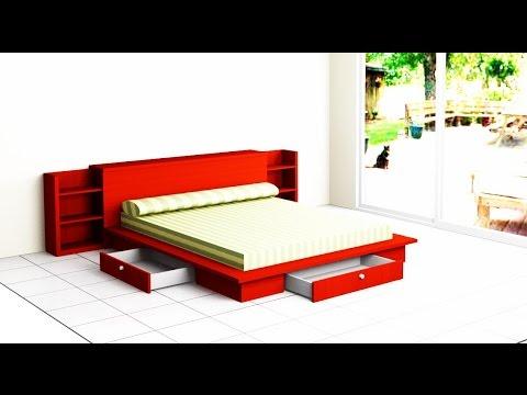 Como hacer una cama de dormitorio youtube for Como hacer una base de cama