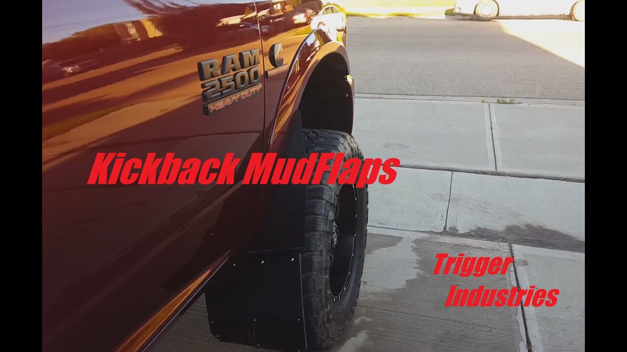 "Dually Mud Flaps >> Kickback Mudflaps ""Trigger Industries"" - YouTube"