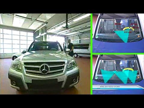 Mercedes Benz GLK | Adjust windshield washer nozzles (W204.9)