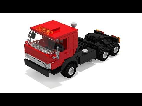 КамАЗ 5410 из Lego (мини-инструкция)