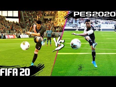 FIFA 20 Vs. PES 2020: Shooting (Long Shots, Finesse Shots, Volleys, Lobs & More) 4K