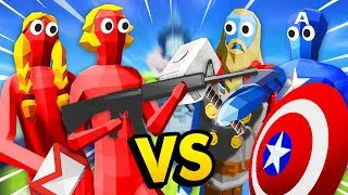 Can THE AVENGERS Stop The EVIL Trump And Hillary? (Totally Accurate Battle Simulator Gameplay)