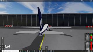 Roblox SFS Flight Simulator | LOT 767 Arrival into Warsaw (Central Pavilion/Purple)
