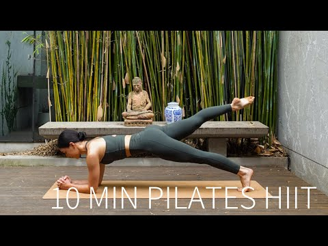 10 MIN PILATES HIIT WORKOUT | Full Body Sculpt (Warm Up & Cool Down Included)