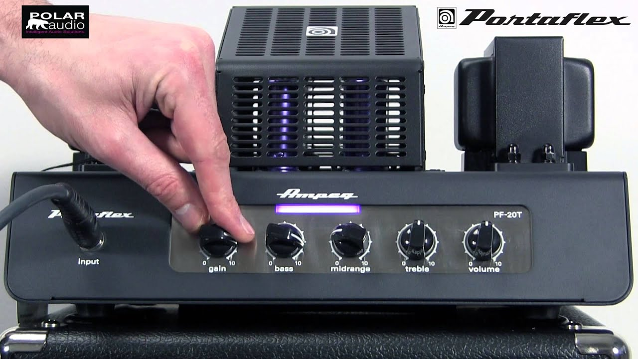 ampeg pf 20t portaflex bass amplifier head youtube. Black Bedroom Furniture Sets. Home Design Ideas