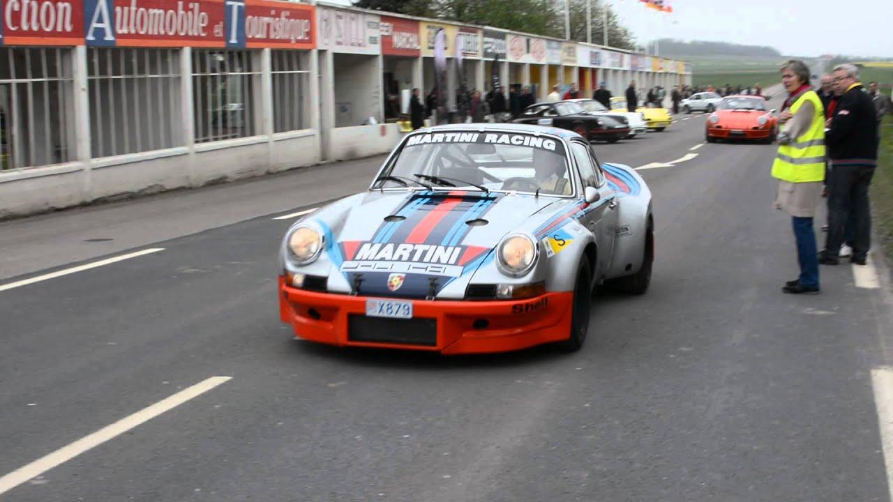 Porsche 911 27 rs 40th bday start of the 30 rsr ex le mans porsche 911 27 rs 40th bday start of the 30 rsr ex le mans 1973 at reims gueux vanachro Images