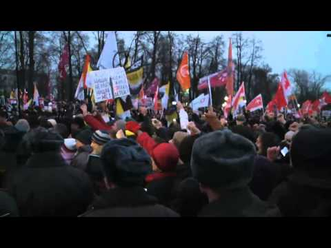 Russian protests against Putin : video