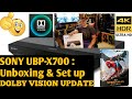 Sony UBP-X700 : Unboxing & Set up : Dolby Vision Update