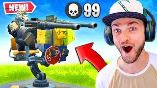 the BEST WAY to use the NEW Turret in Fortnite!