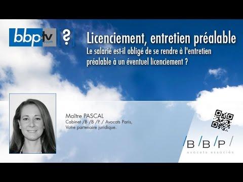Avocat Paris - Entretien préalable à un éventuel licenciement