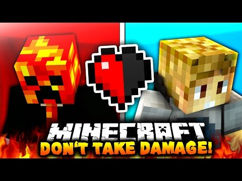 DON'T TAKE DAMAGE?! | Minecraft RED VS BLUE CHALLENGE!