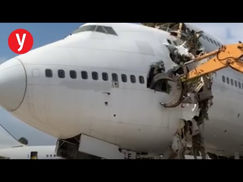 תיעוד: גריטת מטוס