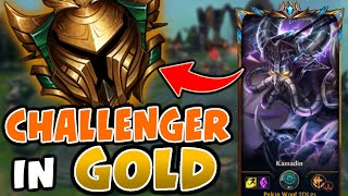 What happens when a TOP 100 CHALLENGER visits GOLD | Challenger Kassadin vs Gold Elo