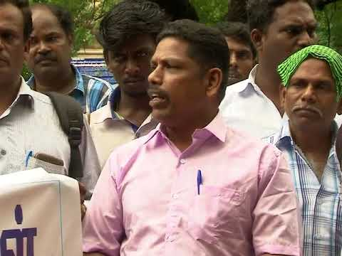 Madurai district reporters protested at district collector's office