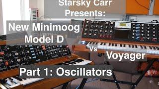 New Moog Minimoog Model D vs Voyager: Oscillators