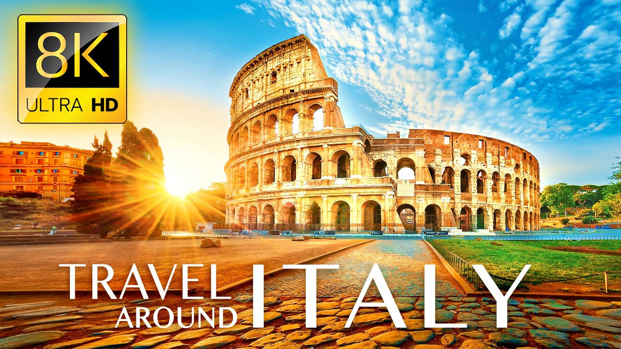 Stunning Trip to ITALY in 8K ULTRA HD - Travel to Best Places in Italy with Relaxing Music 8K TV