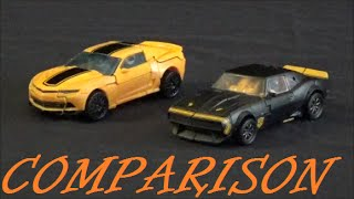 Toy Comparison: Transformers Age Of Extinction Bumblebee/ High Octane vs 2014 Mode