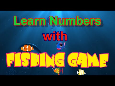 Fishing Game For Kids | Learn Numbers With Fishing Game | Count  1 To 10