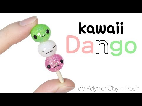 How to DIY Japanese Dango Polymer Clay/Resin Tutorial