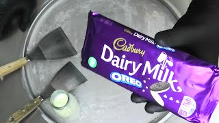 Chocolate Ice Cream Rolls | how to make Cadbury Dairy Milk Chocolate & Oreo Ice Cream Recipe | ASMR