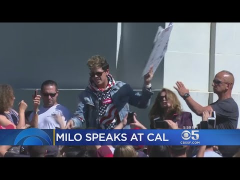 YIANNOPOULOS IN BERKELEY: Amid cheers and jeers, Milo Yiannopoulos made a brief public appearance in
