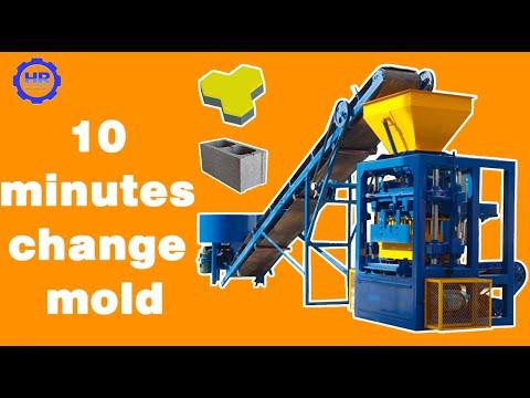 QT4-24 multi purpose semi-automatic concrete block machine for Guinea