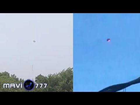 What's happening in the sky! Huge UFOs hovering in the clouds! July 8,2019