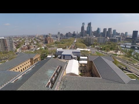 Over the Philadelphia Museum of Art  - 2017 NFL Draft Construction [4.20.17]