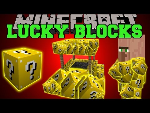 Minecraft: LUCKY BLOCKS (LUCKY VILLAGERS, WISHING WELLS, LUCKY POTIONS, & MORE!)...