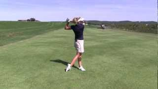 Have Trouble Falling Back when Hitting Long Irons or Fairway Woods?