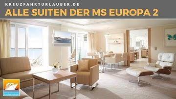 Alle Suiten der MS Europa 2 #LuxusaufSee