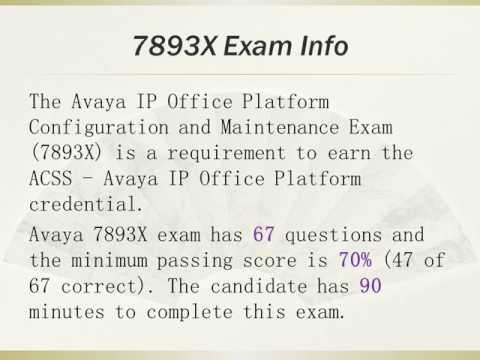 Endexam Avaya 7893X Exam Actual Questions
