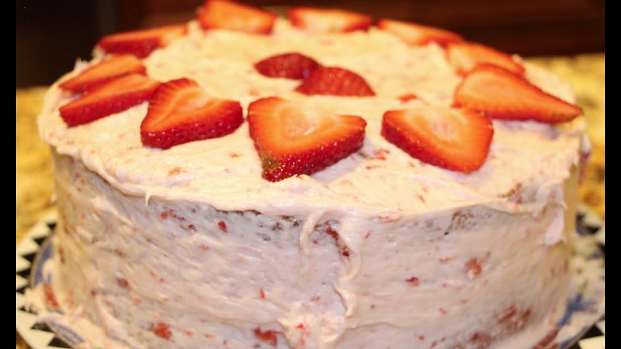 BEST CAKE EVER/BEST STRAWBERRY CAKE/STRAWBERRY FROSTING