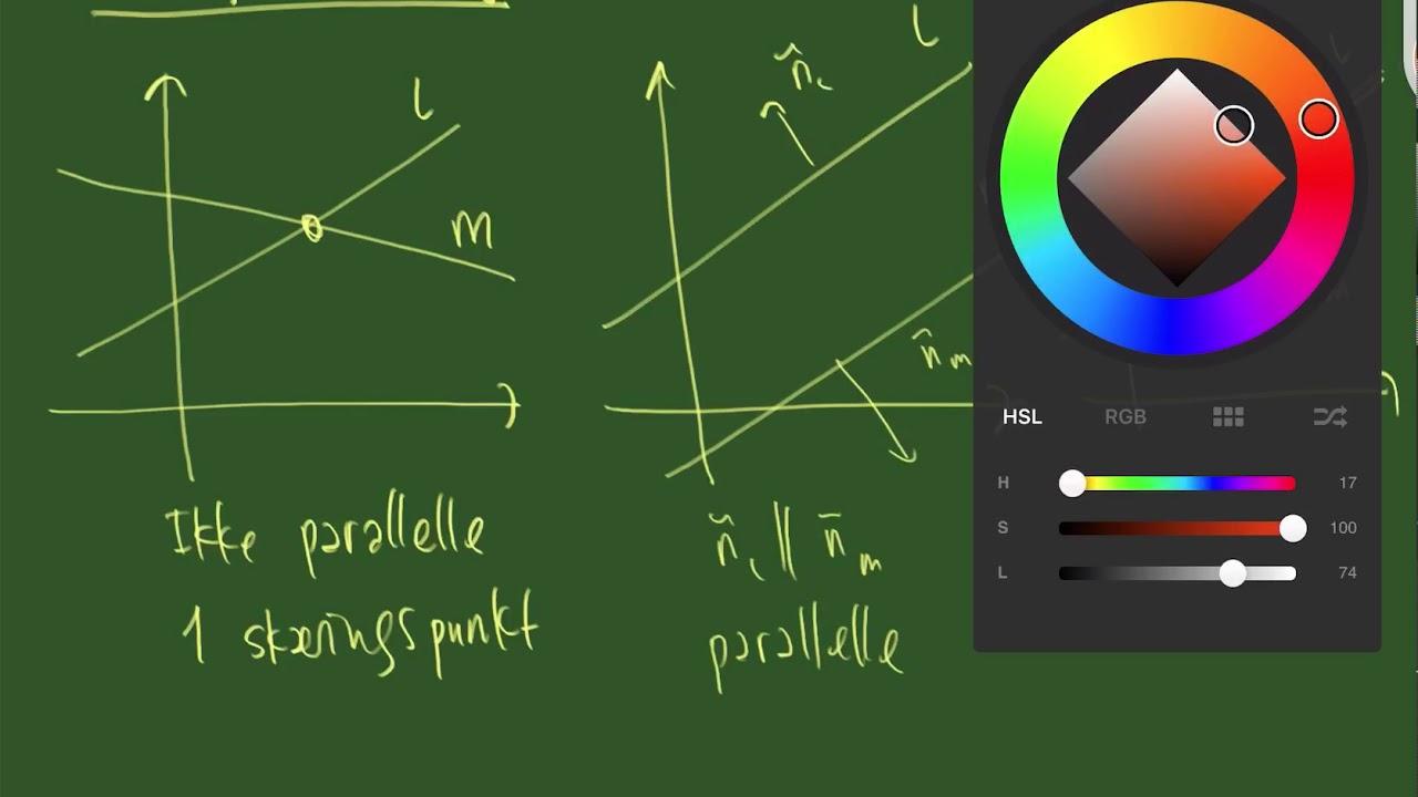 De tre muligheder for den forholdsmæssige placering af to linjer
