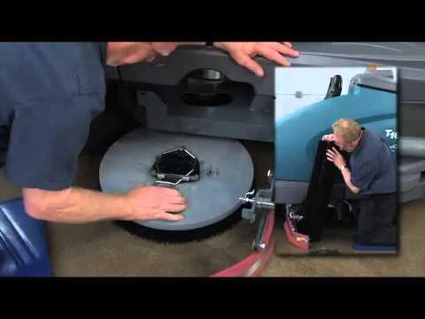 Tennant t16 floor scrubber operator training youtube for Floor operator