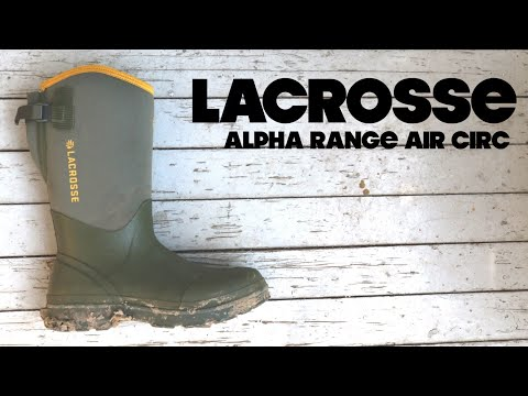 dab6f973 LaCrosse ALPHA RANGE AIR CIRC | Summer Rubber Boot | The Boot Guy Reviews -  YouTube