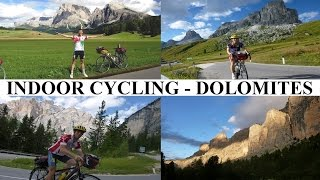 Indoor cycling workout Dolomiti epic famous climbs of the Dolomites Full HD