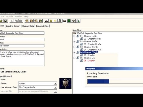 Warcraft 3 How to put a campaign into world editor and edit maps.