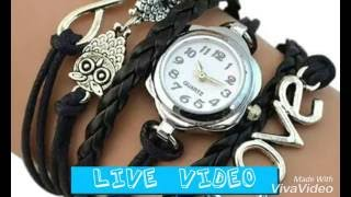 AliExpress Clip 3 - Live Product Video - Wrist watch bracelet friendship love owl